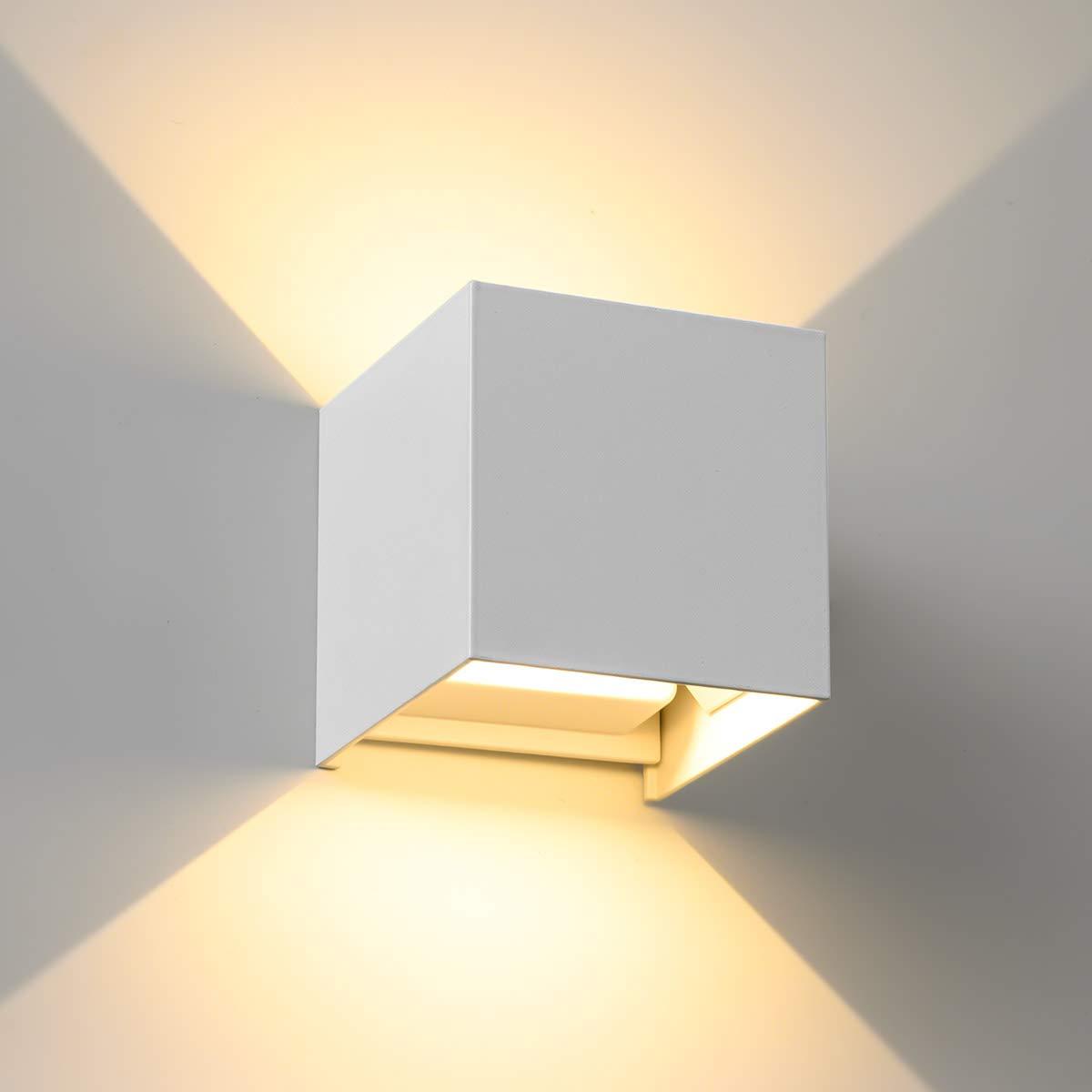 schwarz LED Wandleuchte SEALIGHT Wandlampe 7W Wandbeleuchtung IP 67 Lampe Beleuchtung 3000K Warmwei/ß Licht f/ür Innen und Au/ßenbeleuchtung Wohnzimmer Schlafzimmer Treppenhaus Flur