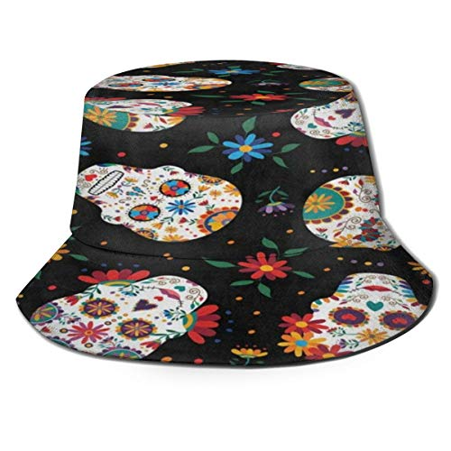 Bucket Hats for Women Funny Dachshund Pug Dog Paw Print Cool Foldable Outdoor Wide Brim Fishing Sun Hat for Men