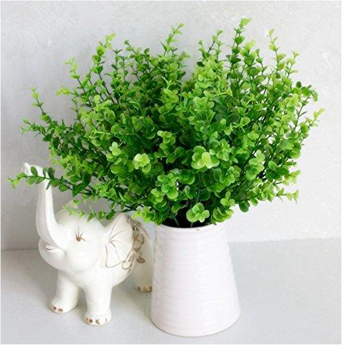 XICHEN 14 Inch green Shrubs Artificial plant, Eucalyptus ...