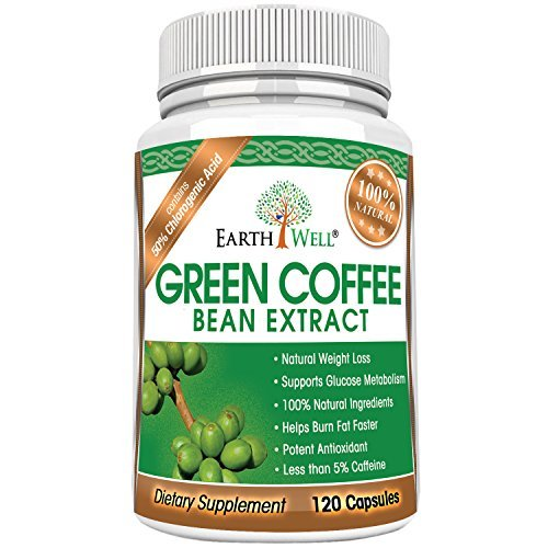 Green Coffee Bean Extract - Best Natural Weight Loss Supplement and Appetite Suppressant - Burn Fat Faster with Premium Quality Dietary Pills - 50% Chlorogenic Acid - 800mg - Pure and Clinically Proven - 120 capsules by cannabis (Image #1)