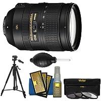 Nikon 28-300mm f/3.5-5.6 G VR AF-S ED Zoom-Nikkor Lens with 3 Filters + Tripod + Kit for D3200, D3300, D5300, D5500, D7100, D7200, D750, D810 Camera
