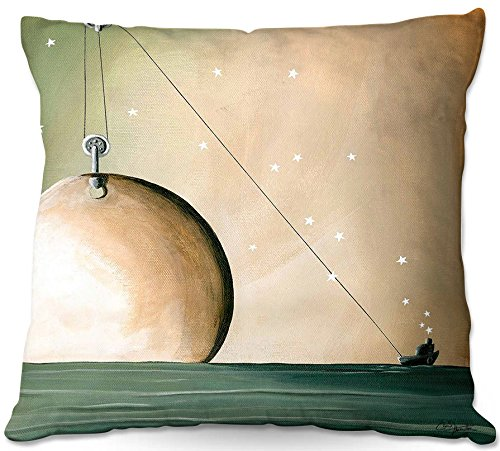 DiaNoche Designs Cindy Thornton a Solar System Unique Bedroom, Living Room and Bathroom Ideas Decorative Woven Couch Throw Pillow, 22'' x 22'' by DiaNoche Designs