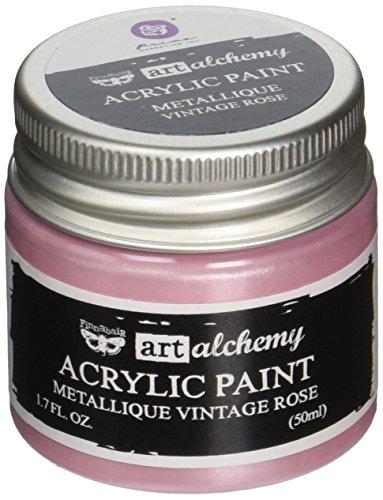 Prima Marketing 963200 Finnabair Art Alchemy Acrylic Paint, 1.7 fl. oz, Metallique Vintage Rose