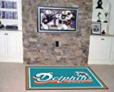 """Fan Mats Miami Dolphins Rug, 60"""" x 92"""""""