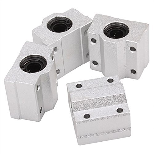 ALUNAR Bushing Linear Roller Bearing Slide Block Linear Motion Ball Bearing CNC SCS8UU Slide Unit for Reprap 3d Printer i3 Kit Pack of 4 (Block Slide)