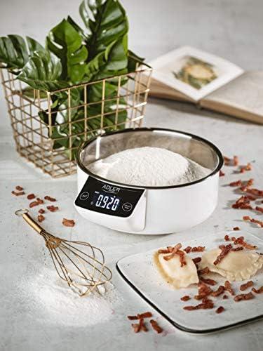 Balanza de cocina Adler AD 3166 con recipiente de 900 ml de acero ...
