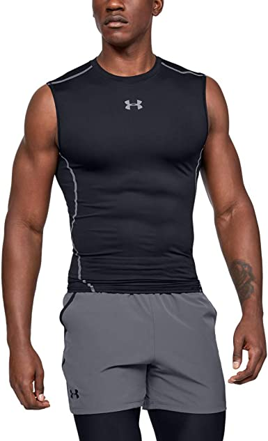 Under Armour Mens Heatgear Compression Vest Sleeveless T-Shirt XL EXTRA LARGE
