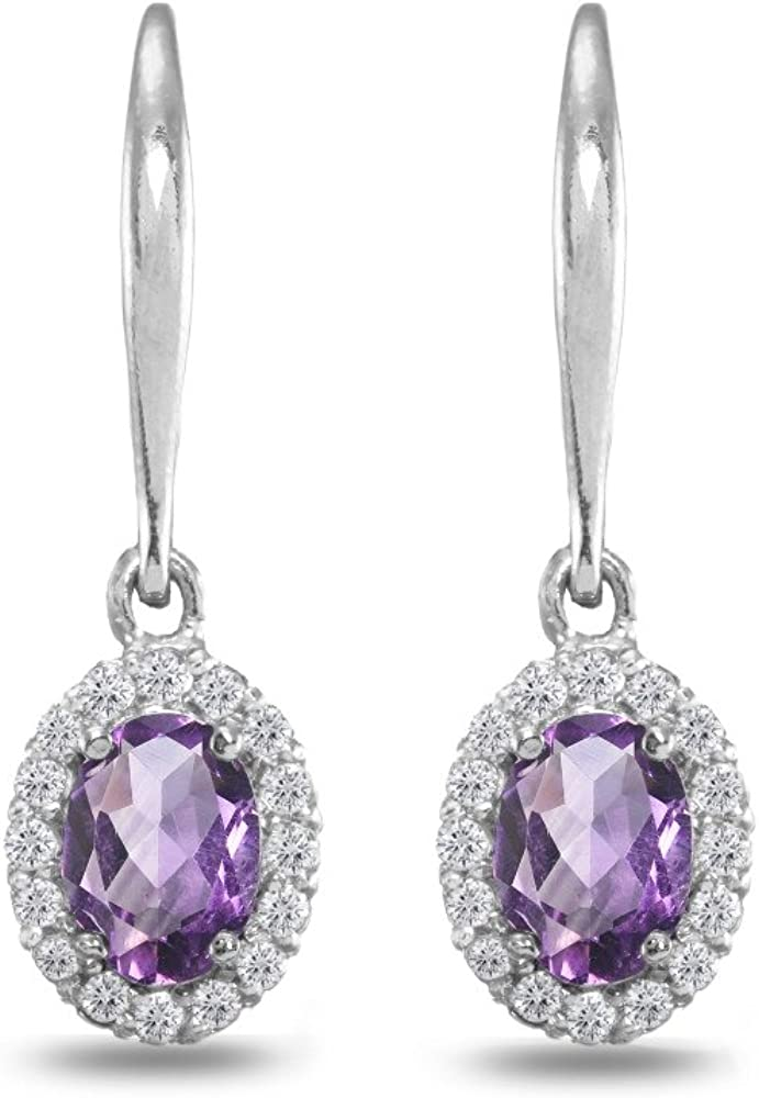 Sterling Silver Genuine Created and Simulated Gemstone Birthstone Oval...