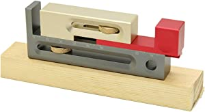 wang JESS Table Saw Slot,Saw Table Saw Slot Adjuster Mortise and Tenon Tool Movable Measuring Block Length Compensation Table Set Up Woodworking Tools