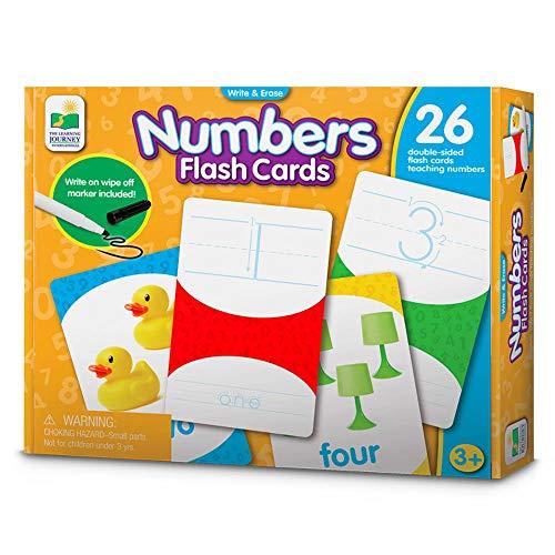학습 여행 플래시 카드 숫자