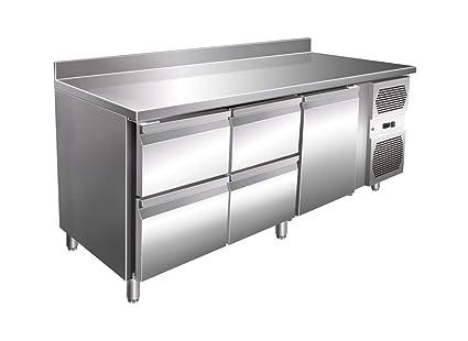 Relaxdays - Mesa de cocina (1 puerta, 4 cajones, con esquina ...