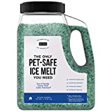 Natural Rapport Pet Friendly Ice Melt - Calcium Chloride Free, Pet Safe Ice Melter, Rock Salt Alternative - Time Release Deicer Formula Lasts 3X Longer (10 lb)