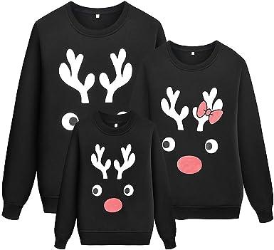 Dad Reindeer Christmas Family Sweatshirt Ugly Christmas Long Sleeve Shirts Tops