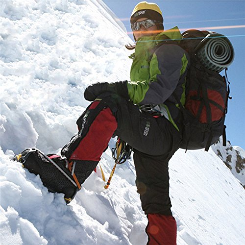 Od-sports 1 Pair 18 Teeth Unisex Multi-function Anti-slip Ice Cleat Shoe Boots Traction Crampon Chain Spike Non-slip for Climbing Walking Travel by Od-sports (Image #5)