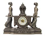 Large Mantel Clock, Baroque Style, Cold Cast Bronze