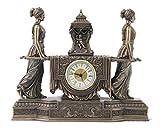 Large Mantel Clock, Baroque Style, Cold Cast Bronze