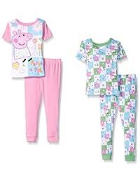 "Peppa Pig Little Girls' Toddler ""Garden Pig"" 4-Piece Pajama Set"