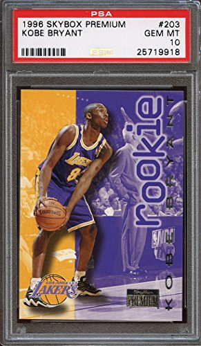1996-97 skybox premium #203 KOBE BRYANT los angeles lakers rookie card PSA 10 Graded Card