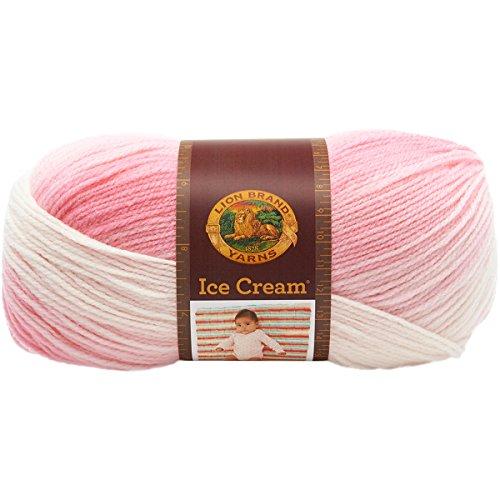 Lion Brand Yarn 923-207 Ice Cream Yarn, Strawberry