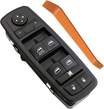 CCIYU Power Window Switch Master Control Switch Front Left Replacement fit for 2008-2012 Jeep Liberty 2008-2012 Dodge Nitro 2009 2010 Dodge Journey 4602632AG