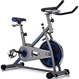 Cheap Merax Indoor Cycling Bike Cycle Trainer Exercise Bicycle (Gray&.Blue)