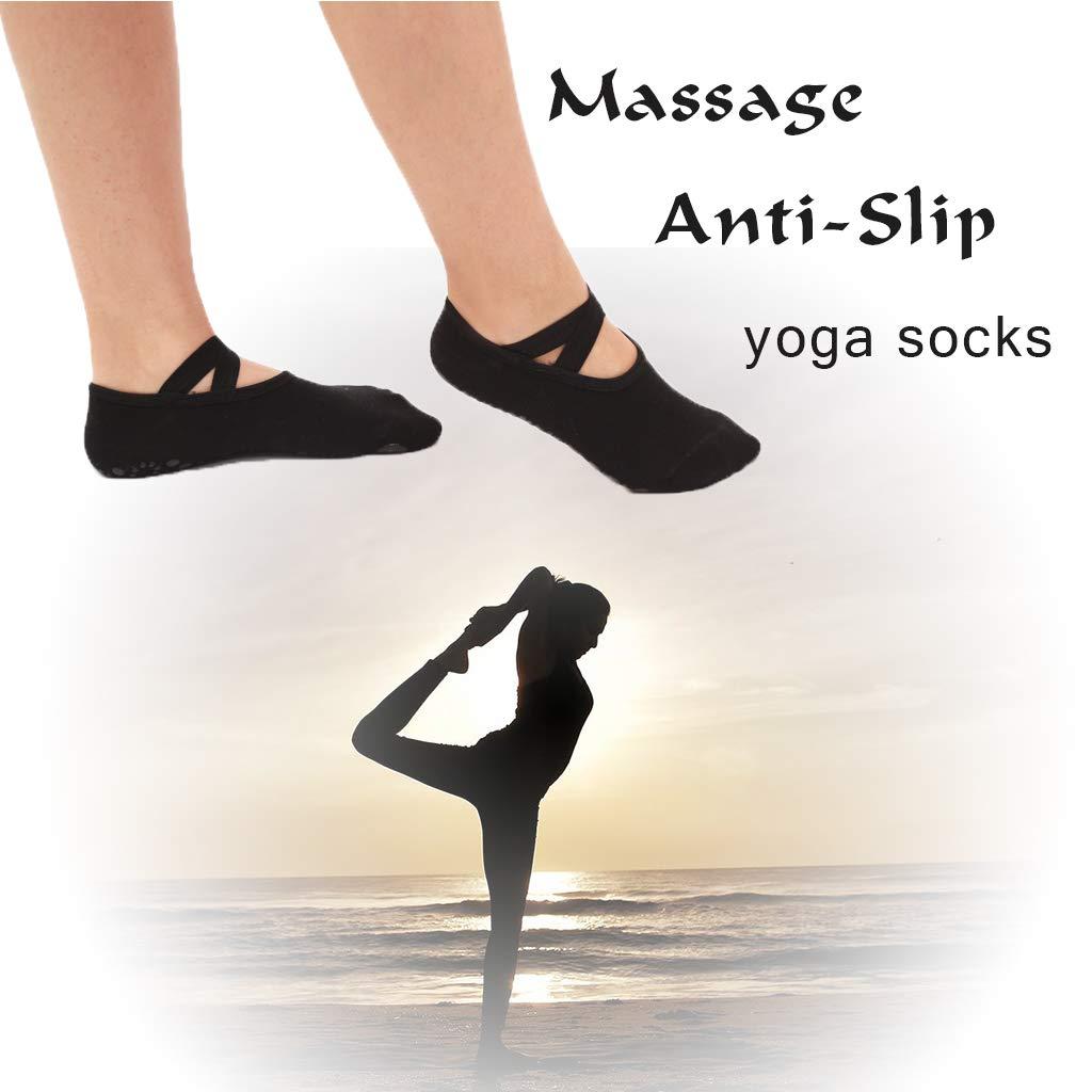 DoGeek 5paia Yoga calze a 5 dita Calzini con dita Calzini antiscivolo Calzino infradito per Yoga e Pilates esercizi o quando si indossano pantofole