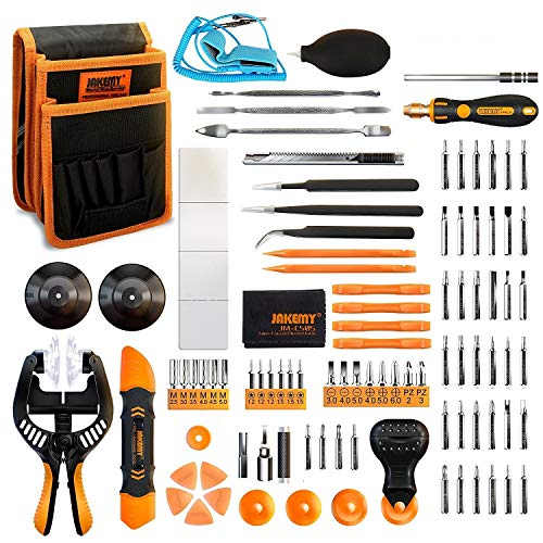 Jakemy Screwdriver Set, 99 in 1 with 50 Magnetic Precision Driver Bits, Repair Tool kit with Pocket Tool Bag for iPhone 8 / Plus, Computer, Macbook, Cell Phone, PC, Laptop, Tablet, Game Console by Jakemy
