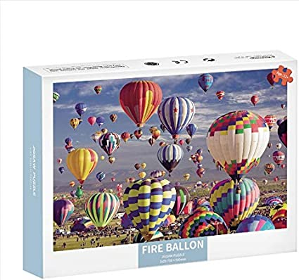1000 Piece Large Jigsaw Puzzle for Adults Hand Made Puzzles Hot Air Balloon 1000 pcs Jigsaw Puzzle Game Interesting Toys