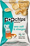 Popchips Sea Salt & Vinegar Potato Chips 5 oz Bags (Pack of 12)
