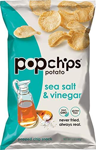 Popchips Sea Salt & Vinegar Potato Chips 5 oz Bags (Pack of 12)