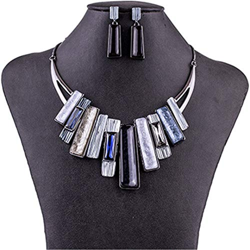 ZHENFSH MS1504750 Fashion Jewelry Sets Necklace Sets for Women Jewelry Multicolored Crystal Resin Unique Party Gift MS1504750