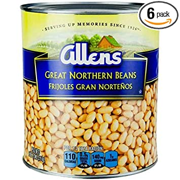 Allens Great Northern Beans, 111 Ounce Can -- 6 per case.