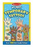Blue: My First Temporary Tattoos - 100+ Kid-Friendly Tattoos + FREE Melissa & Doug Scratch Art Mini-Pad Bundle [29476]