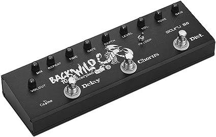 Pedal eléctrico para guitarra de Muslady, 3 en 1, multiefecto ...