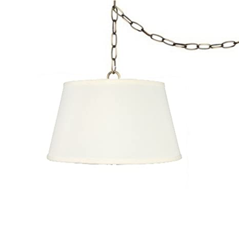 Upgradelights swag light pendant lamp shade in off white linen upgradelights swag light pendant lamp shade in off white linen aloadofball Images