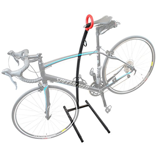 New Bike Storage Floor Rack Parking Stand Holder Wheel Cycling Steel Home Garage N Special Intro Pricing! Hang Your Bike By The Seat! by Polarbear's Cycling