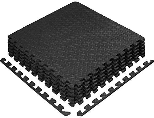 Yes4All Interlocking Exercise Foam Mats – Cover 24, 48 & 120 SqFt (Multi-Color)
