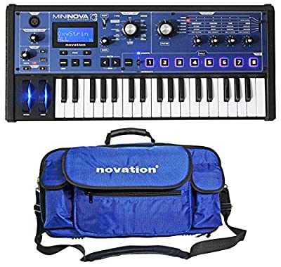 Novation MiniNova 37-Key Compact USB MIDI Keyboard Synthesizer + Carry Case from Novation