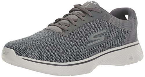 Charcoal Walk 4 Walking Skechers Go Performance Mens Shoe Lace Mesh up zBxqO6x