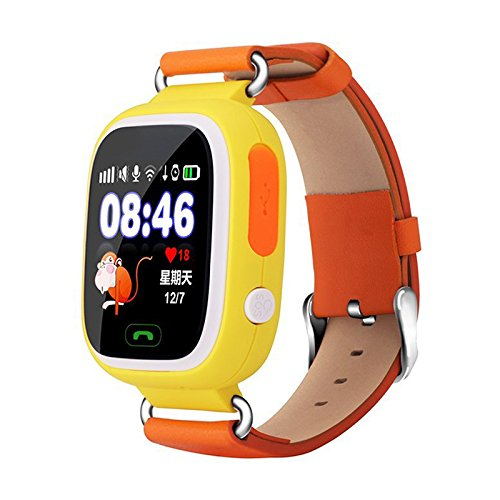 Toogoo Smart Watch Children GPS Q90 Touch Screen WIFI Positioning SOS Call Location Finder Device Tracker Kid Safe Anti Lost Monitor (Yellow)