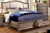 Dimensions of Eastern King Size Bed Furniture of America Brahms Platform Bed with Storage, Eastern King, Natural Wood