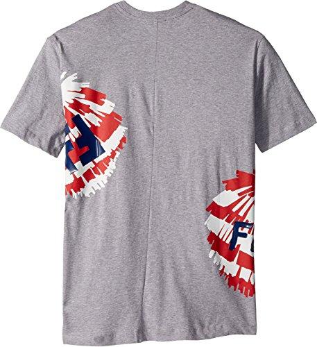 Fendi Kids Boy's Short Sleeve Logo Fur Monster Graphic T-Shirt (Big Kids) Grey 12 Years by Fendi Kids (Image #1)