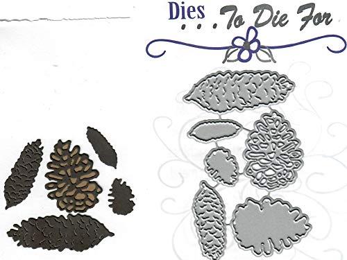 Pinecone Round - Dies to die for Metal Craft Cutting die - Pine Cone Mix - Cones Round Long