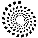 Frankies Cajun Customs Abstract Spiral Geometric Shape v3 Vinyl Decal, Wall, Car, Laptop - Light Yellow - 50 inch