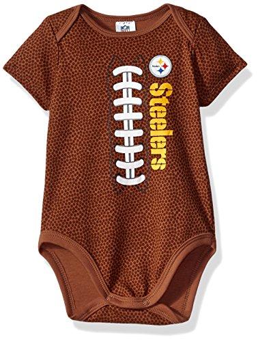 NFL Pittsburgh Steelers Boys Football Bodysuit, 3-6 Months, Brown