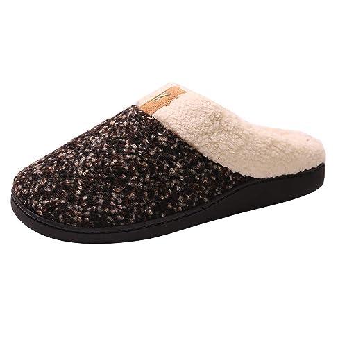 HCFKJ Zapatos Casual Moda De Los Hombres Invierno Dama Confort Memory Esponja Zapatillas ImitacióN Felpa AlgodóN Zapatillas: Amazon.es: Zapatos y ...