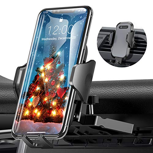 Ultra Stable Car Phone Mount, VICSEED NEWEST CD Slot & Air Vent Universal Cell Phone Holder for Car, Fit for iPhone 11 Pro Max Xs Xr X 8 7 6 Plus, Galaxy Note 10 S10+ S10 S9 S8, Google, LG, Moto, Etc.