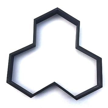 Su-luoyu Jardín Cuadrado Negro Plástico ABS Molde de césped Molde de pavimentación Molde de Piso DIY Molde de Cemento Fácil de operar Moldeado fácil: ...