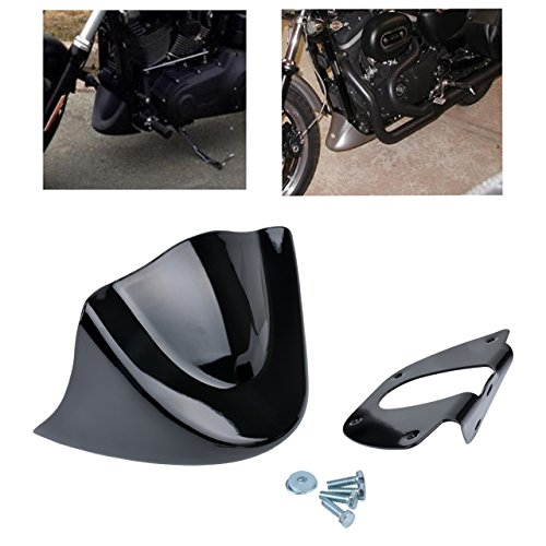 ECLEAR Front Spoiler Chin Fairing Cover Mounting Bracket Air Dam For Harley 883 1200 XL Sportster Matt Black