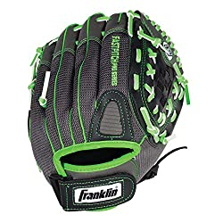 Franklin Sports Fastpitch Series 12-inch Lightweight Softball Glove, Limegray, Right Hand